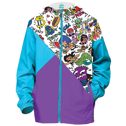 Graffiti Print Windbreaker