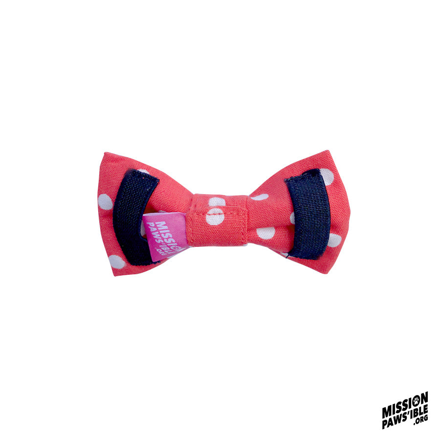 Polka Face Red Bow Tie