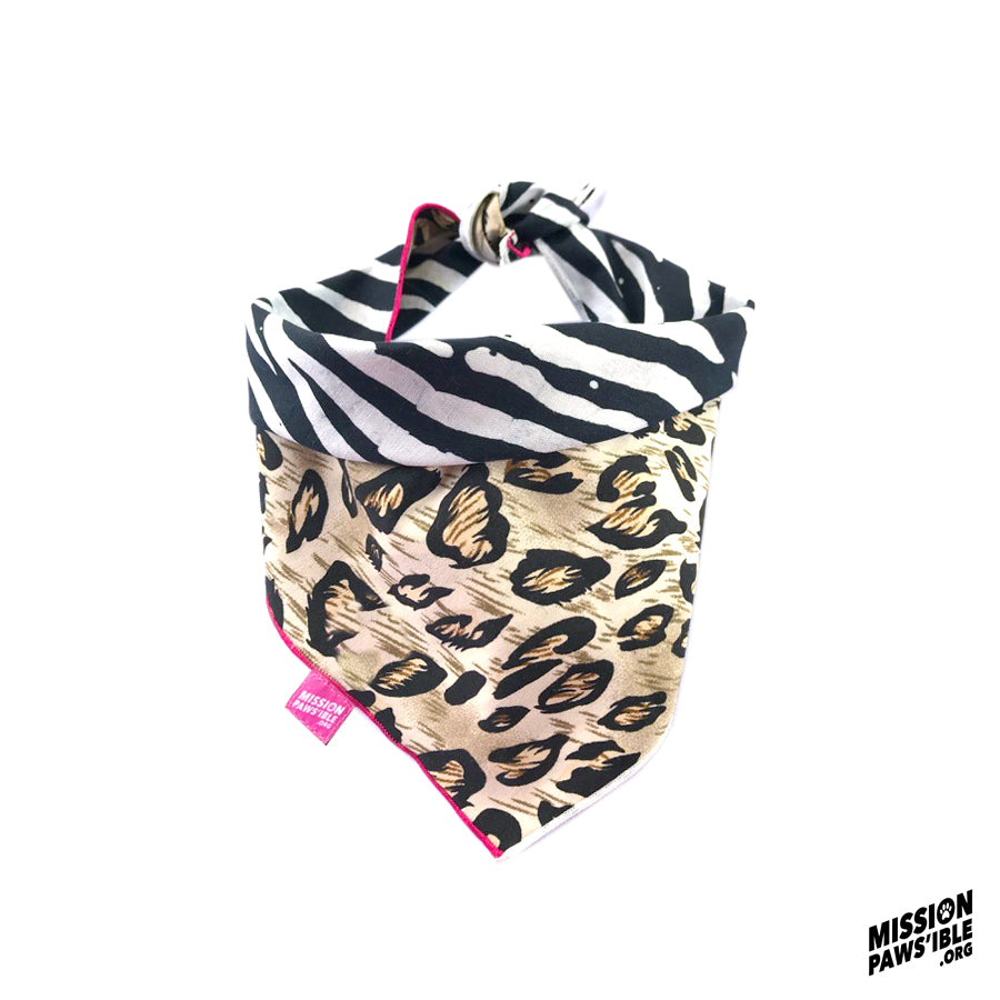 Jungle Fever Reversible Bandana