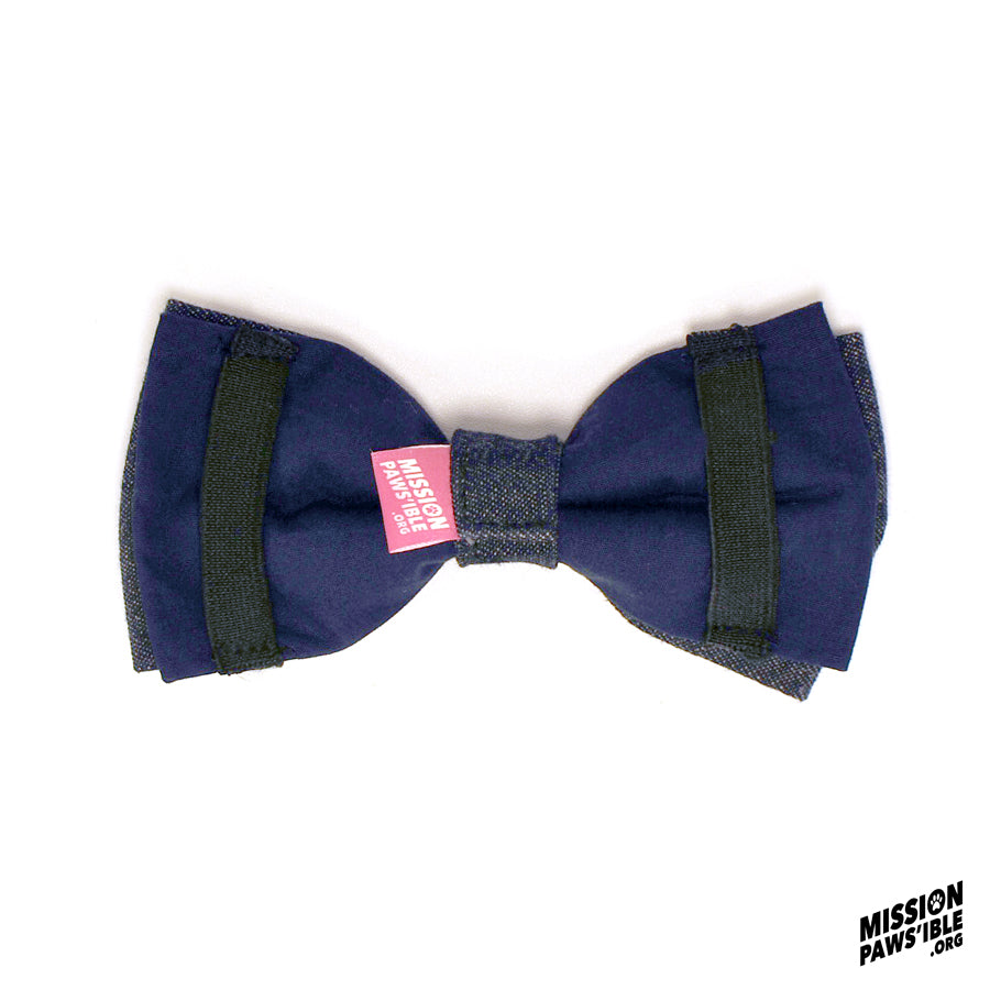 Denim Cool Bow Tie