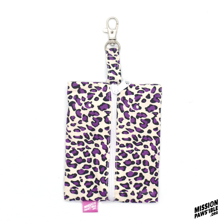Purple Leopard Carry-All