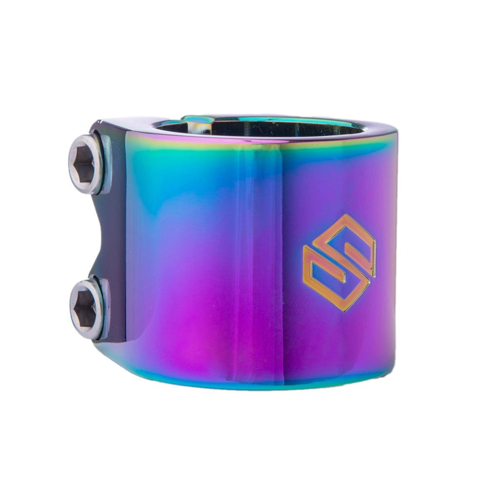Striker Lux Double Clamp-Rainbow-ScootWorld