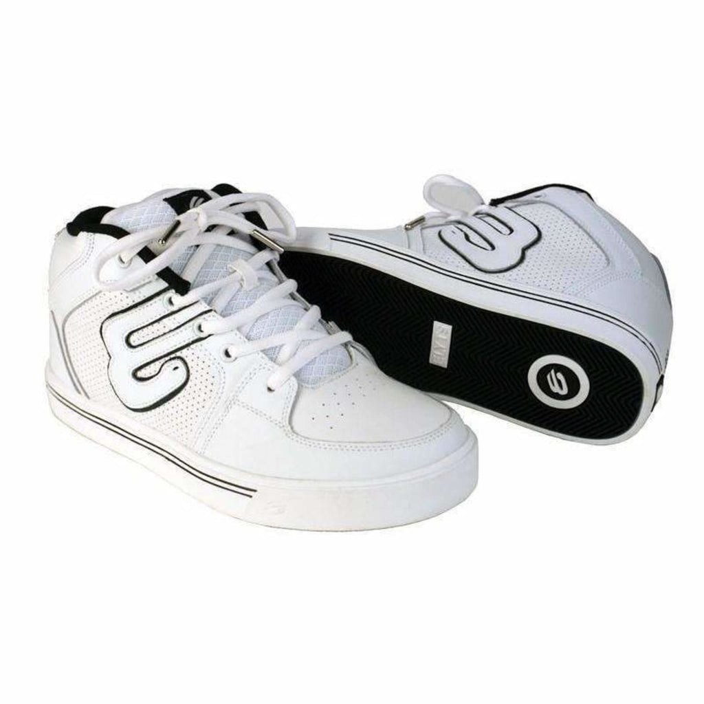 Elyts Mid Top 2 White Action Skate Sko-ScootWorld