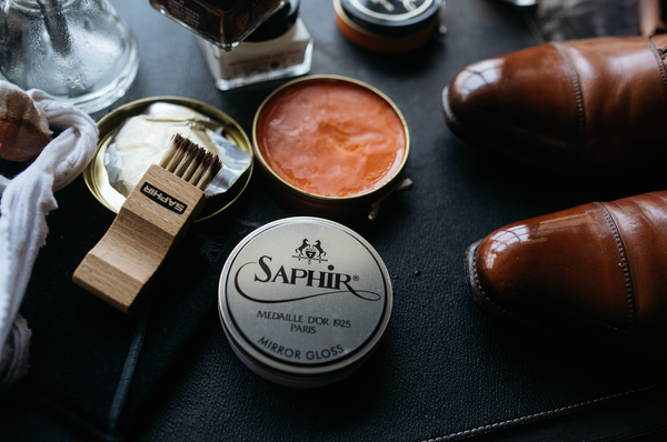 Shoe Shining with Saphir Singapore