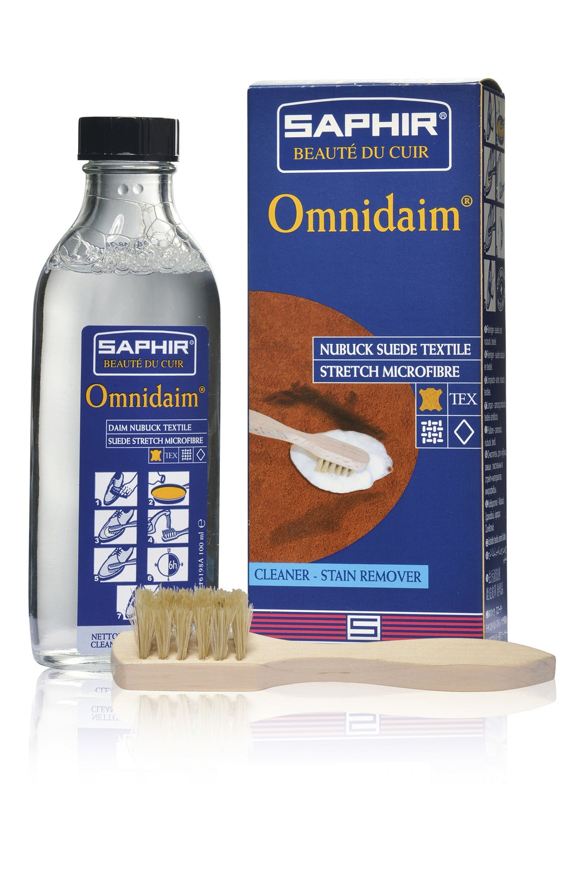 Saphir Beauté Du Cuir Omnidaim Suede Cleaner (100ml) - Straits Establishment