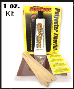 Ding All Sun Cure UV Polyester repair kit c7ce972ef