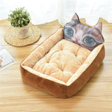 PP Cotton Kennels Cat House Dog Pad Teddy Mats Big Blanket Supplies Cute Pet Dog Bed Mats Animal Cartoon Shaped Pet Sofa Kennels