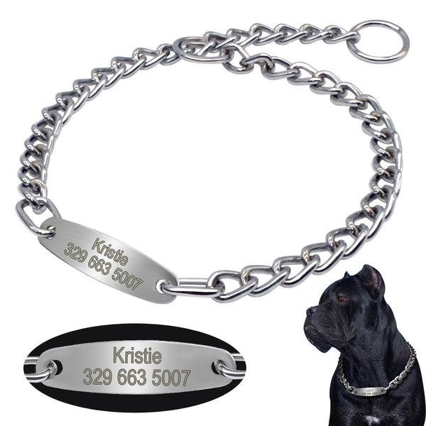 Personalized Pet Chain Collar