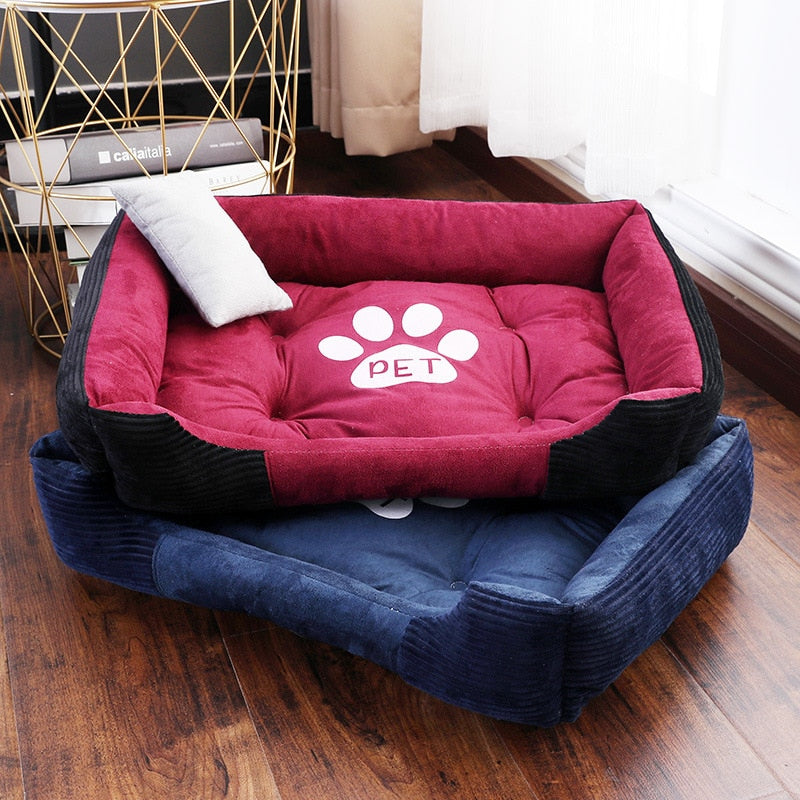 Pet Dog Beds Mat for Small Medium Large Dogs with Pets Pillow High Elasticity PP Fiber Filler Puppy Bulldog Kennel Cat Blanket