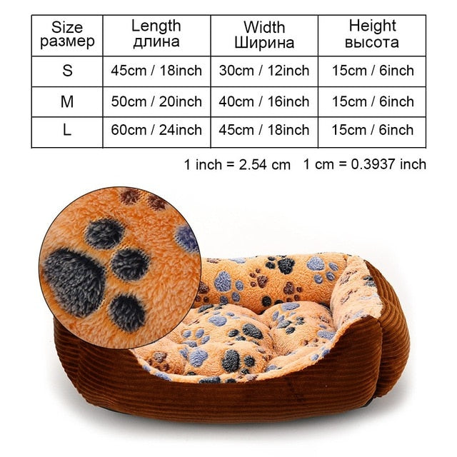 Pet Products Dog Beds Mats For Small Medium Large Dogs Puppy Cat Bed House Winter Dog Bed Sofa Kennels House Bench Dogs Blankets