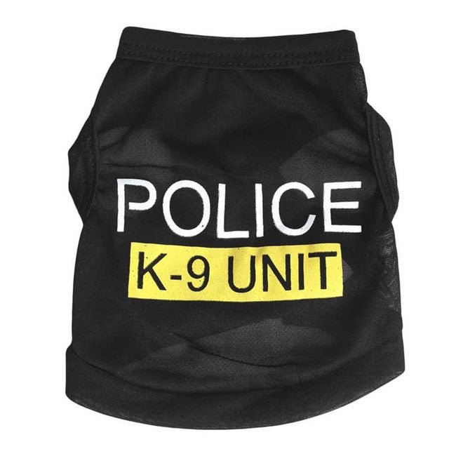 Police Suit Dog Cosplay Clothes