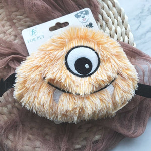 Fluffy Plush Monster Squeaky Chew Toy