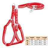 Dog Cat Leash Adjustable Harness