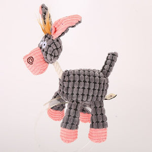 Plush Vocal Molars Donkey Shape Dog Toy