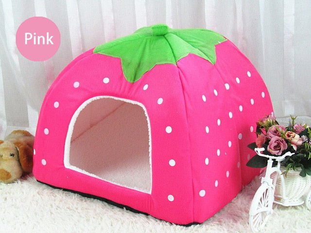 Small Pet Dog Kennel Bed Mat Cat Blanket Unfolding To Be Thicken Winter Pet Beds Mattress Flannel Fabric Warm Dogs House Tent