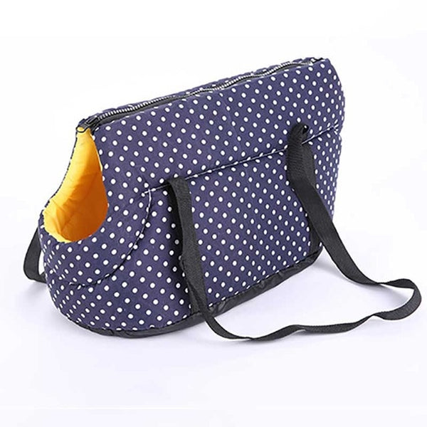 Dotted Soft Pet Shoulder Carrier