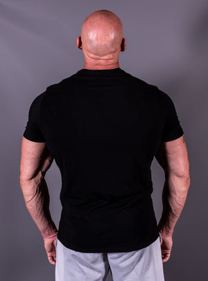 Black on Black Muscle Fit T-Shirt