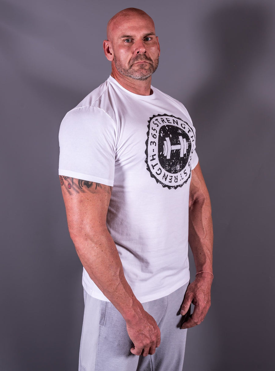 White & Black Muscle Fit T-Shirt