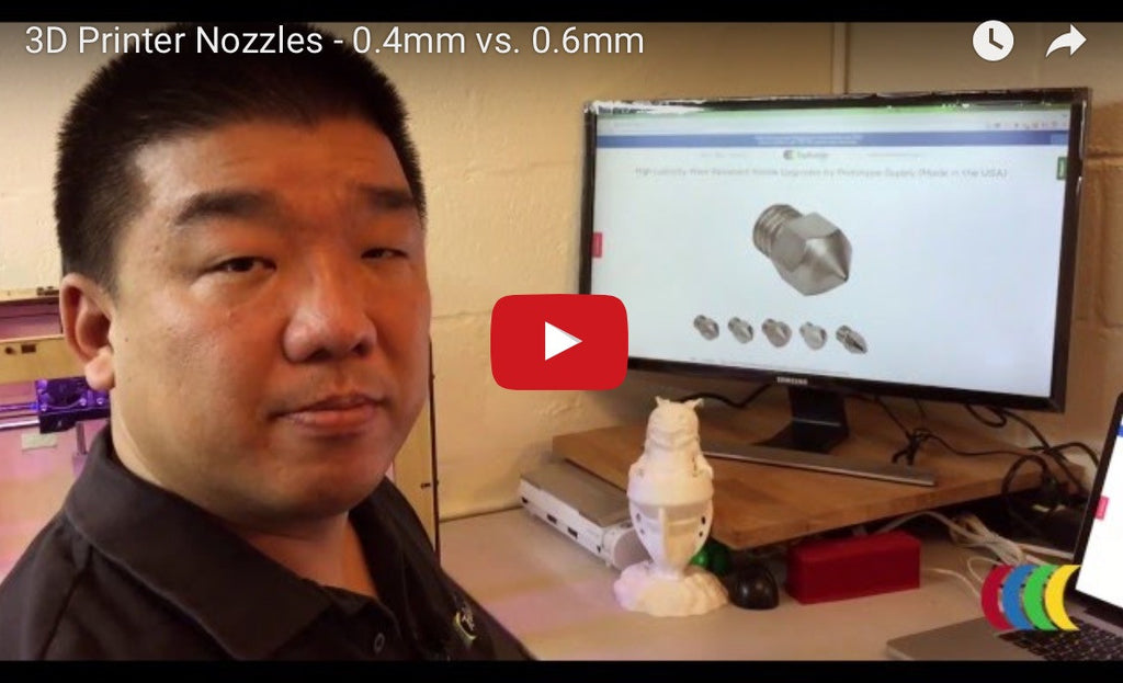 3D Printer Nozzles - 0.4mm vs. 0.6mm - TBL 3D PrintTV Video Series