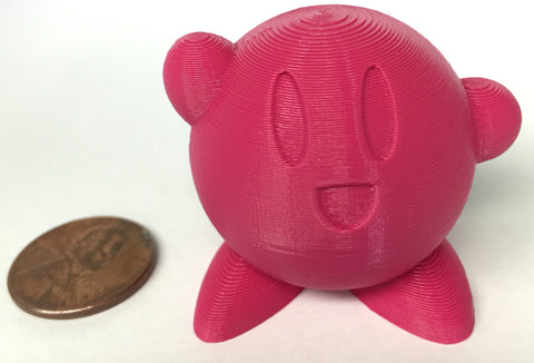 colorFabb XT Pink Kirby with Penny for reference