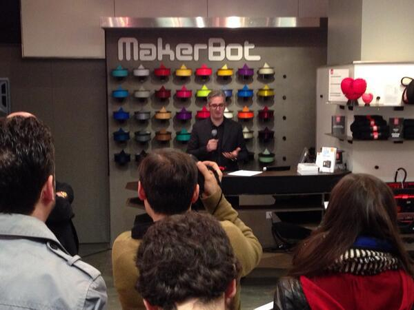 Bre Pettis announced the MakerBot Academy initiative.
