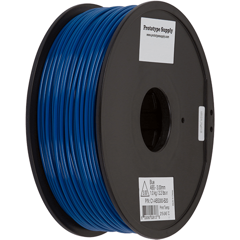 Prototype Supply 3.00mm ABS Blue 3D Printing Filament, 1kg (2.2 pounds)