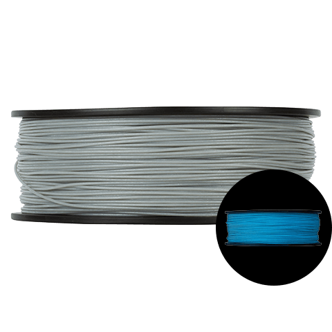 Prototype Supply 1.75mm ABS Blue Glow in the Dark 3D Printing Filament, 1kg (2.2 pounds)