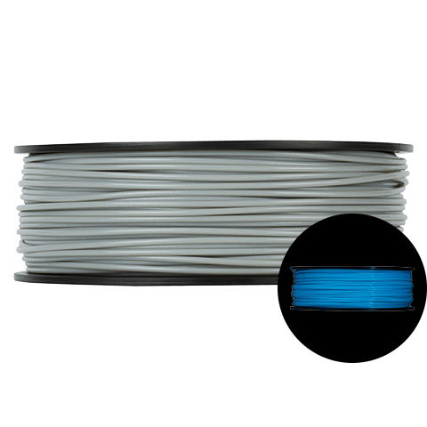 Prototype Supply 3.00mm ABS Blue Glow in the Dark 3D Printing Filament, 1kg (2.2 pounds)