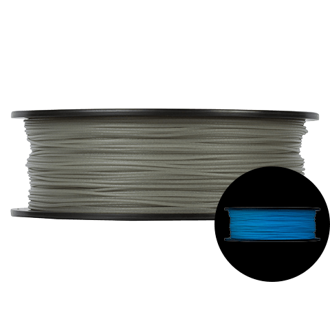 Prototype Supply 1.75mm PLA Blue Glow in the Dark 3D Printing Filament, 1kg (2.2 pounds)