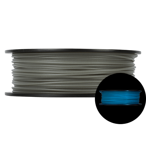 Prototype Supply 3.00mm PLA Blue Glow in the Dark 3D Printing Filament, 1kg (2.2 pounds)