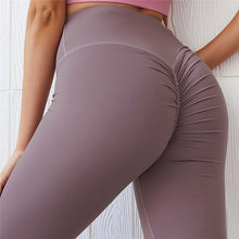 Load image into Gallery viewer, CQFitness Scrunch Luxury Gym Leggings Purple