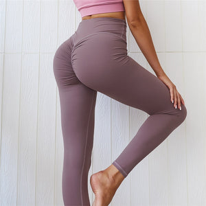 CQFitness Scrunch Luxury Gym Leggings Purple