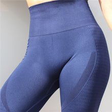 Load image into Gallery viewer, CQFitness Seamless Luxury Gym Leggings Blue