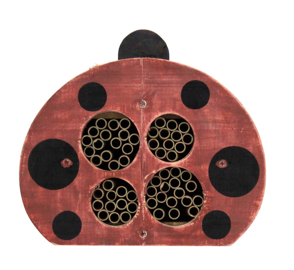Ladybug Decorative Solitary Bee House