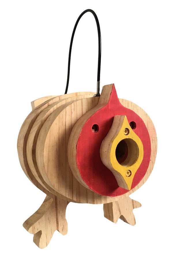 Cardinal Stacks Birdhouse