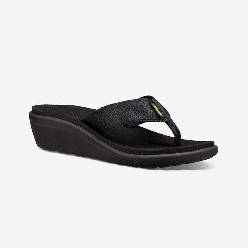 Voya Wedge Black Black