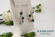 Load image into Gallery viewer, Turquoise Queen woven wire earrings