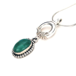 Western style chrysocolla and flute key pendant