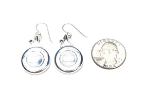 Flute key earrings with adjustment screws