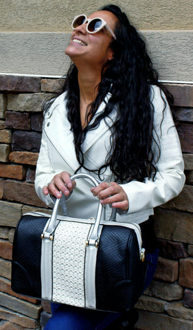"""CHANTEL""colorblock SATCHEL by lithyc"