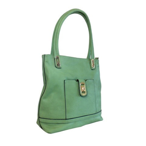 Lithyc 'Rachael' Medium Square Vegan Leather Tote Bag