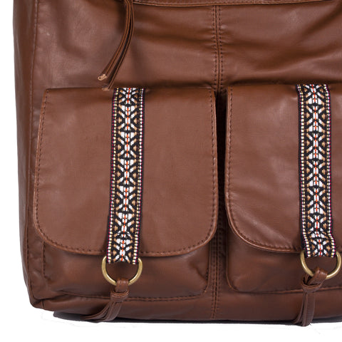 """Kaya"" Aztec Crossbody by Bueno"