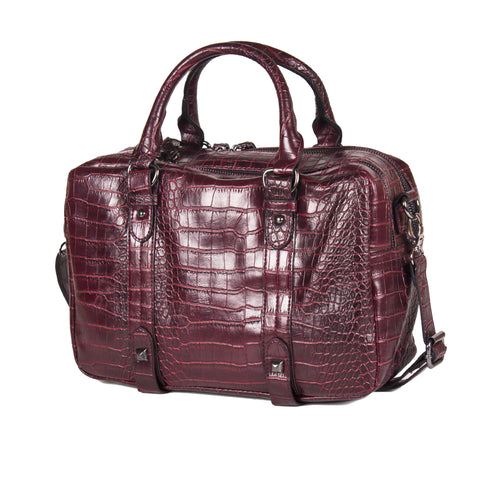 "Croc Embossed Red, Brown or Green Tote ""bindie"" by lithyc"
