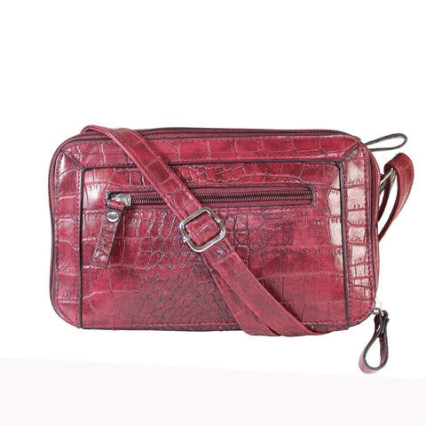 """Maxie"" Croc Embossed Crossbody by Bueno"