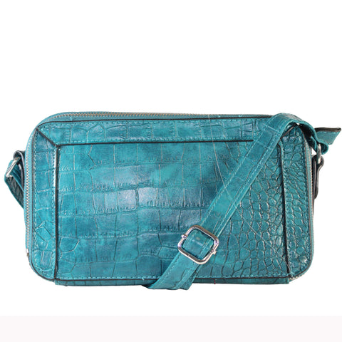 """Maxie"" Croc Embossed Crossbody by Bueno - lithyc.com"