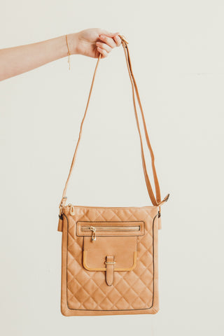 """APRIL"" Quilted Crossbody Bag By Lithyc"