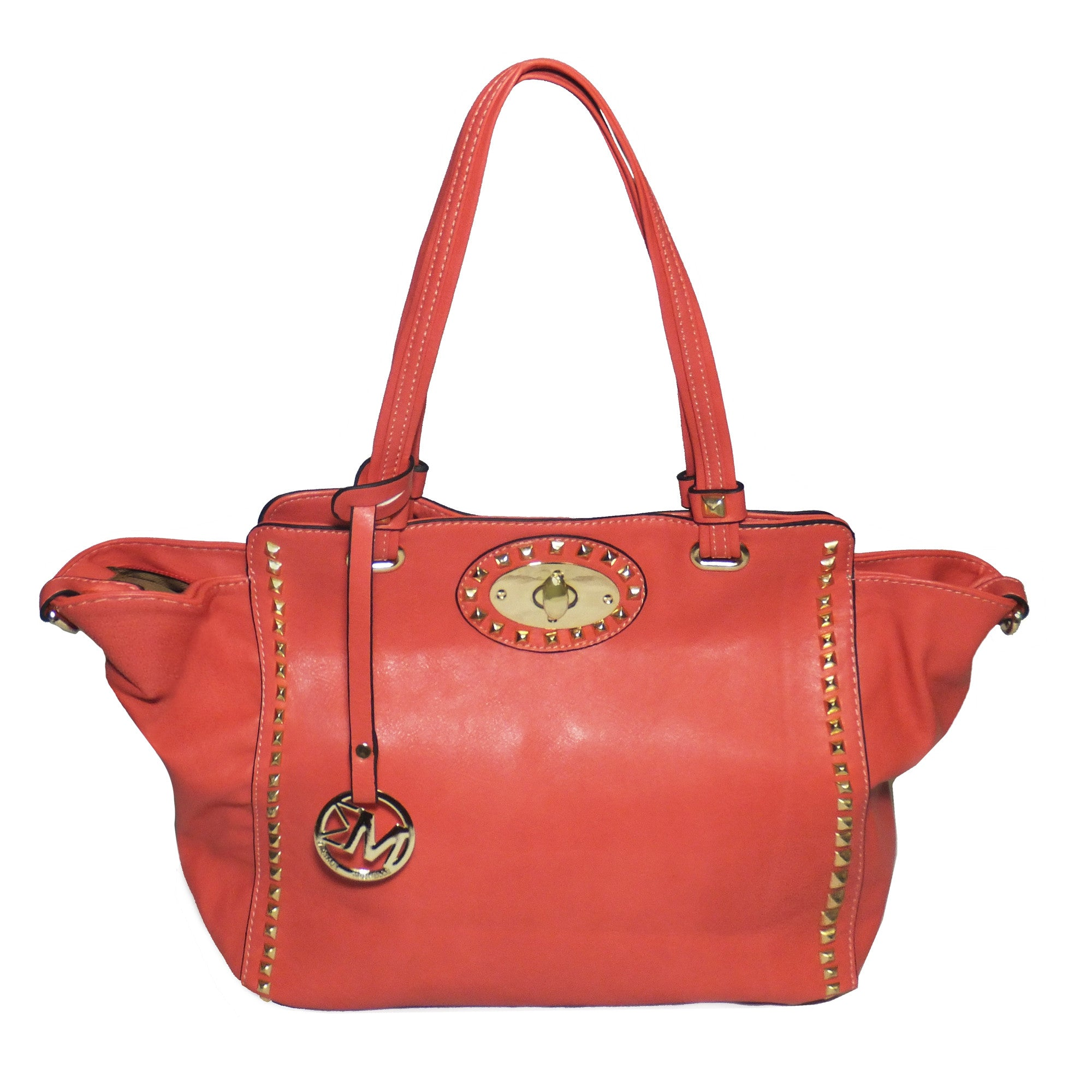 Michael Michelle  Upton  Wide Studded Tote Bag For Women  00f63318cca0c