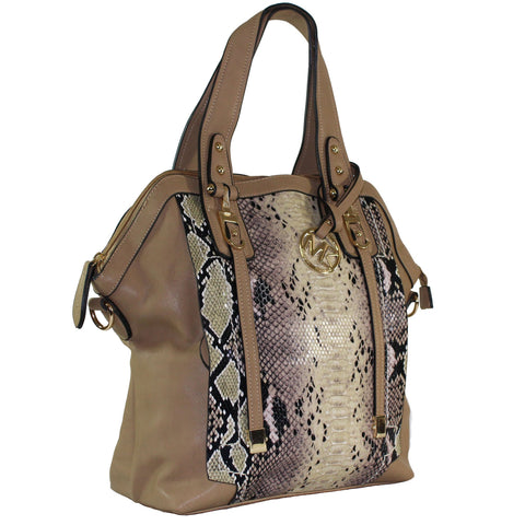 "Michael Michelle ""Sadie"" Snake Skin Shoulder Bag"