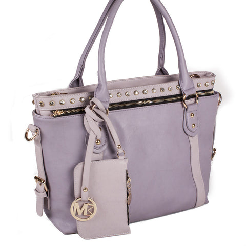 "Michael Michelle ""Meri"" Two-Tone 2 in 1 Tote"