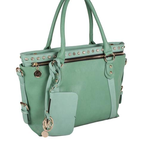 "Michael Michelle ""Meri"" Two-Tone 2 in 1 Tote - lithyc.com"